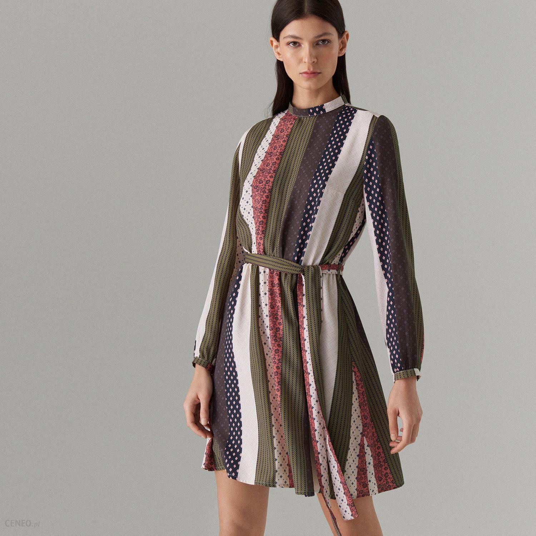 cab73fbcd0 Mohito - Trapezowa sukienka we wzory - Zielony - Ceny i opinie ...