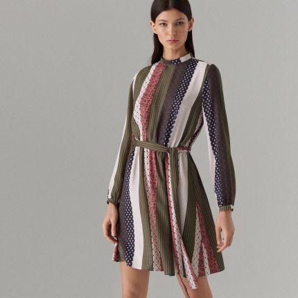c1b76fea98 Mohito - Trapezowa sukienka we wzory - Zielony Mohito
