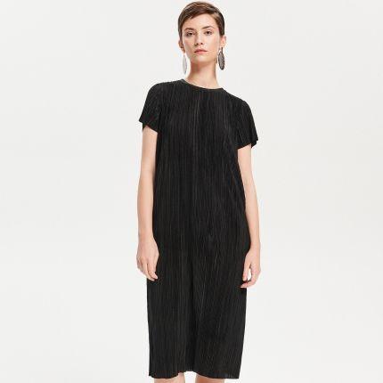 37af0799e1 Mohito - Jeansowa midi sukienka - Niebieski - Ceny i opinie - Ceneo.pl