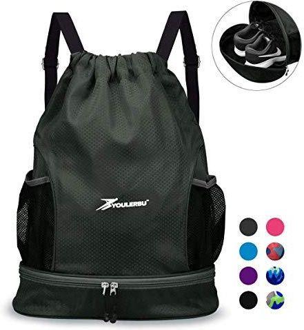 9a39197b1d5e2 Amazon YOULERBU worek gimnastyczny, sznurek, plecak sportowy, kieszeń na  buty, torba do