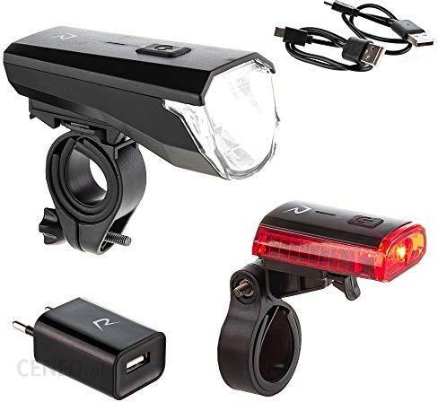Amazon Rohtar Zestaw Oświetlenia Led Do Roweru Usb Do Ponownego ładowania Akumulator Litowy 50 Luksów Oświetlenie Rowerowe Z Przodu I Z Tyłu