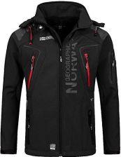 d4ccba438e321 Amazon Geographical Norway męska kurtka softshell funkcyjna kurtka  outdoorowa hydrofobowa, kolor: czarny , rozmiar