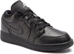 d65f1e1972c4 Buty NIKE - Air Jordan 1 Low (GS) 553560 006 Black White  eobuwie