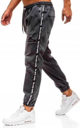 0c30e828bfc5aa Spodnie Jeansowe Baggy Antracytowe 2045 Rozmiar_l Allegro