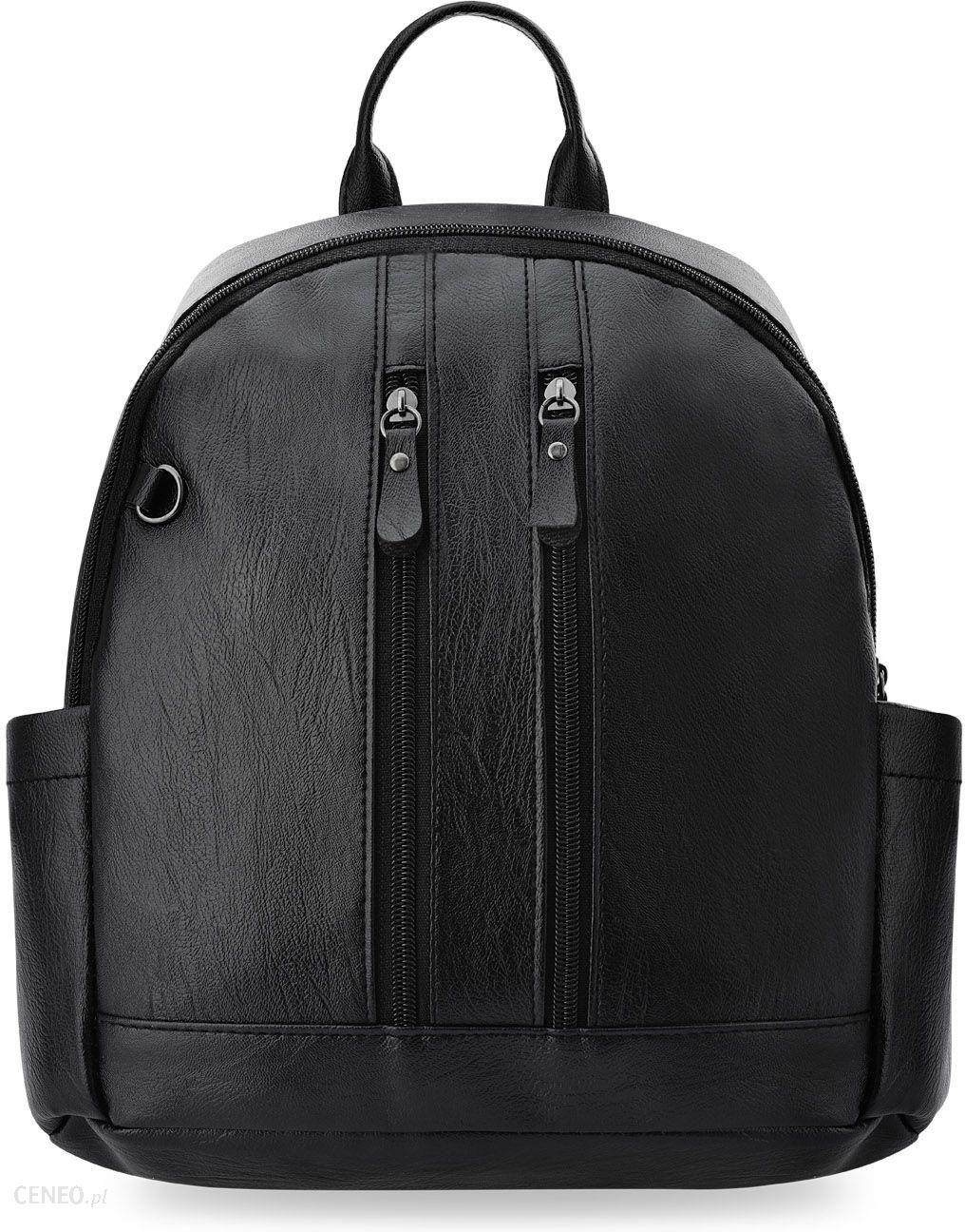 88412d129b17d Klasyczny miejski plecak mały plecaczek damski z kieszonkami - czarny -  zdjęcie 1