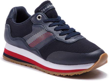 423d76f37253 Sneakersy TOMMY HILFIGER - Corporate Retro Sneaker FW0FW04022 Tommy Navy  406 eobuwie