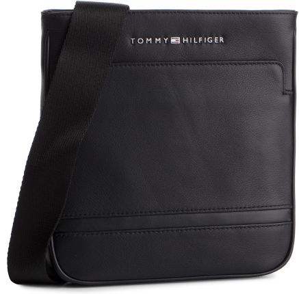 570048b9d8ada Saszetka TOMMY HILFIGER - Business Leather Mini Crossover AM0AM04433 002  eobuwie