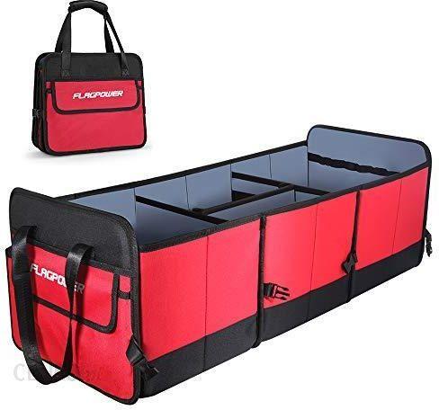 Amazon FLAGPOWER organizer do bagażnika samochodowego, uniwersalny, składany, antypoślizgowy, wielofunkcyjna torba do samochodów SUV ów minivanów