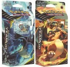 ec1ef74aaaba0 Pokemon TCG: S&M9 Team Up Komplet 2x Theme Deck CHARIZARD+BLASTOISE -  zdjęcie 1