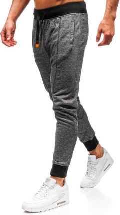 43859cf618ec15 Spodnie męskie dresowe baggy czarne Denley Q5001 Denley