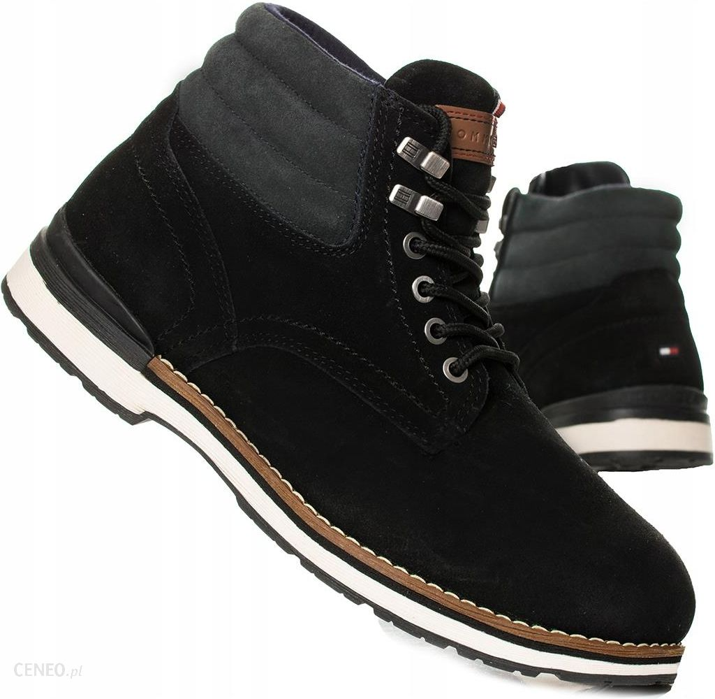 3a0994ca09457 Buty Tommy Hilfiger Outdoor Boot Suede 01748 Black - Ceny i opinie ...