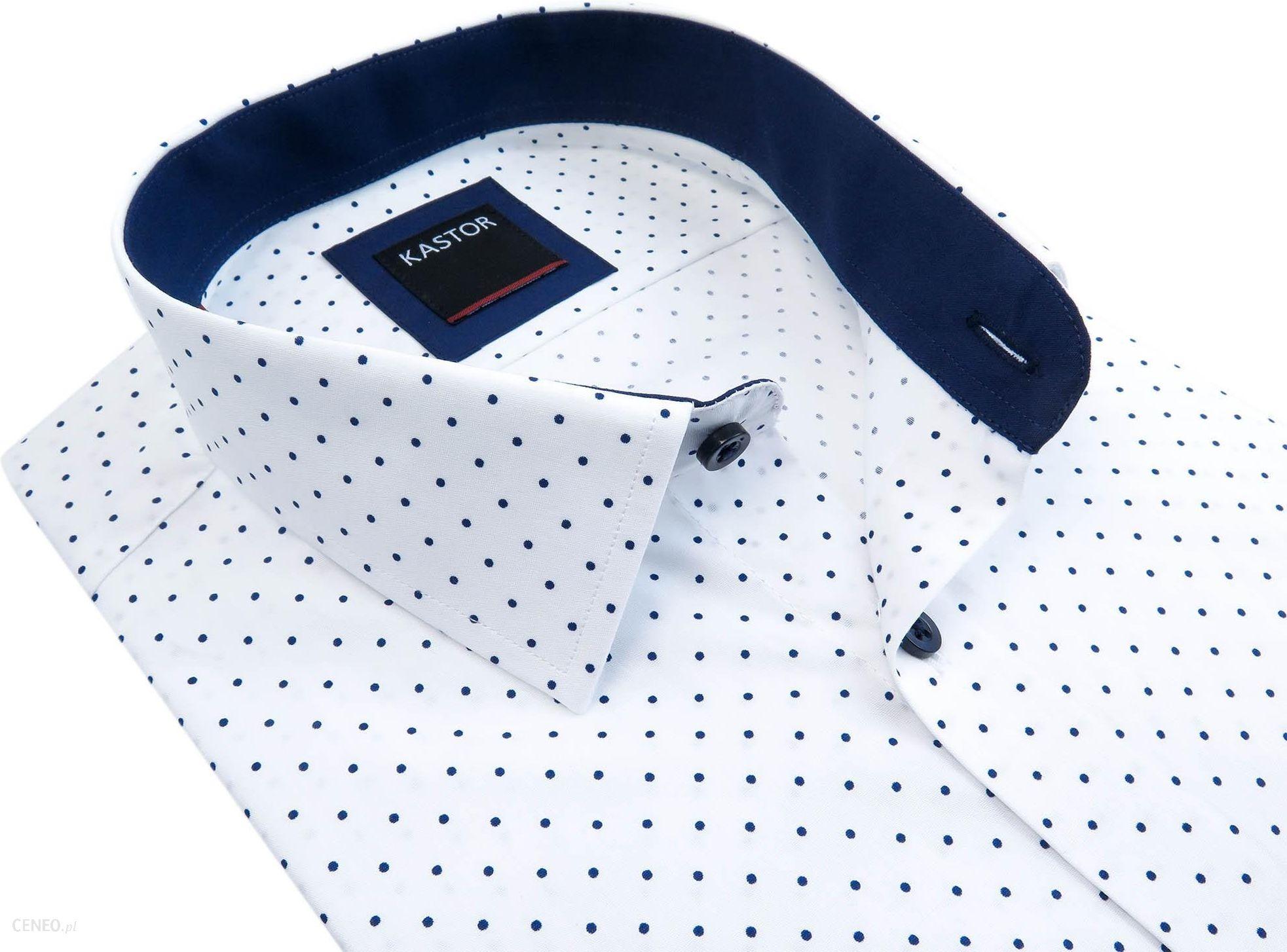 f5400dc3286b13 Biała koszula męska Kastor w granatowe kropki K68 - Ceny i opinie ...