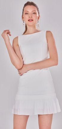 4bc438cd0f8820 Numoco 200-5 CHARLOTTE - ekskluzywna sukienka z koronkowym dekoltem ...