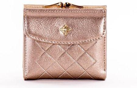 cceed24f237c3 ... cienki portfel slim wallet BRODRENE SW01 jasnobrązowy - j. brązowy.  EKSKLUZYWNY MAŁY PORTFEL DAMSKI SKÓRA EKO CHANELKA - ZŁOTY