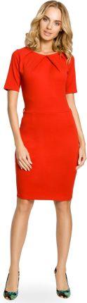 6d1c0caf BE B056 Sukienka ze stójką i plisą w dekolcie Brown - Ceny i opinie ...