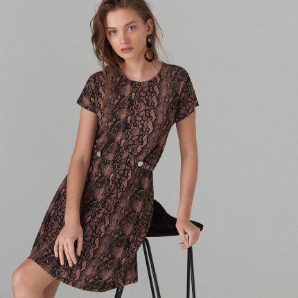 10db2b3bf9 Mohito - Sukienka z krótkimi rękawami - Brązowy Mohito