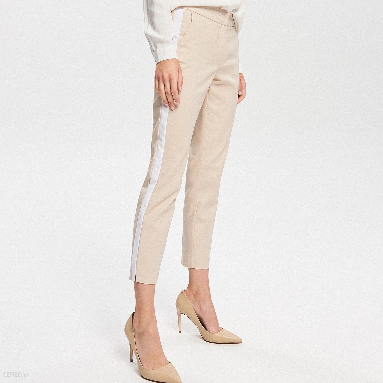 e8e5d0b0f0848f Reserved - Spodnie z lampasami - Beżowy - Ceny i opinie - Ceneo.pl