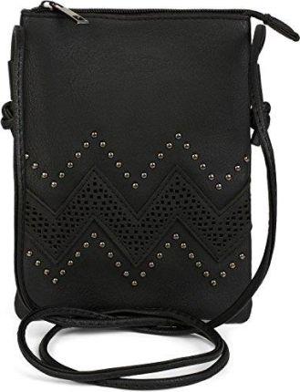 3324e804f5bc6 Amazon styleBREAKER Mini Bag torba na ramię z zamkiem błyskawicznym i  nitami