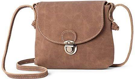 6e67d4c7e2a44 Amazon Damska mała torba na ramię z bezpiecznym zamkiem - LaRechor Mini  torebka Messenger torba na