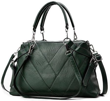5dc9f7e7ca618 Amazon BestoU damska torebka elegancka duża skórzana Shopper, kolor: zielony