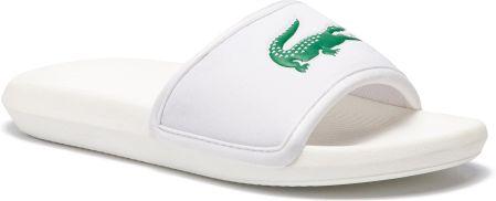 370c149c2e076 Klapki LACOSTE - Croco Slide 119 3 Cma 7-37CMA0020082 White/Green eobuwie