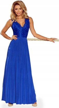 bb4110b27b Sukienka wesele maxi dekolt długa Numoco 211-3 L Allegro
