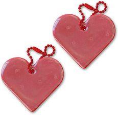 c425173c1ac4b Amazon funflector wisiorek odblaskowy – serce – na kurtki, plecaki, torby,  wózki dziecięce