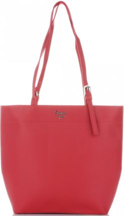 082d2aea3a941 Firmowe Torebki Damskie Uniwersalny Shopper XL na każdą okazję marki David  Jones Czerwona (kolory) ...