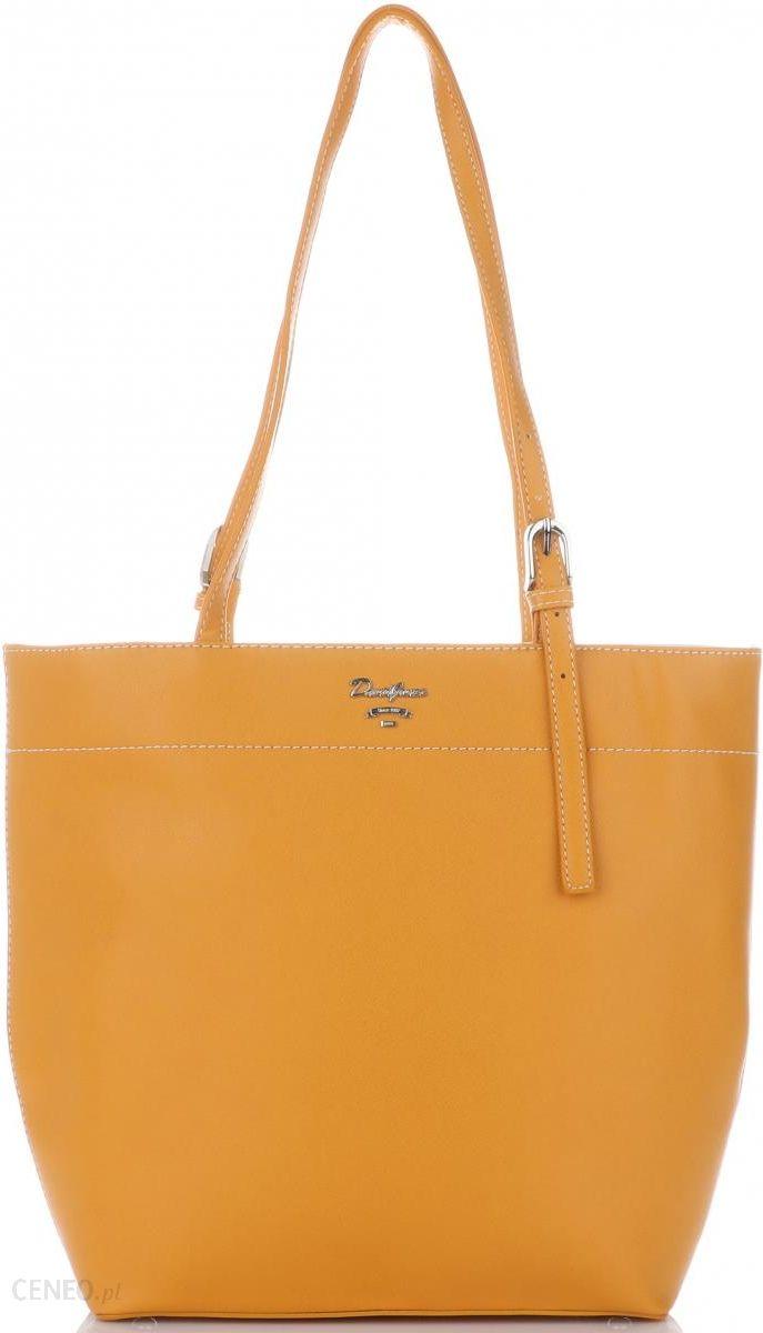 cb5331c9bf133 Firmowe Torebki Damskie Uniwersalny Shopper XL na każdą okazję marki David  Jones Żółty (kolory)