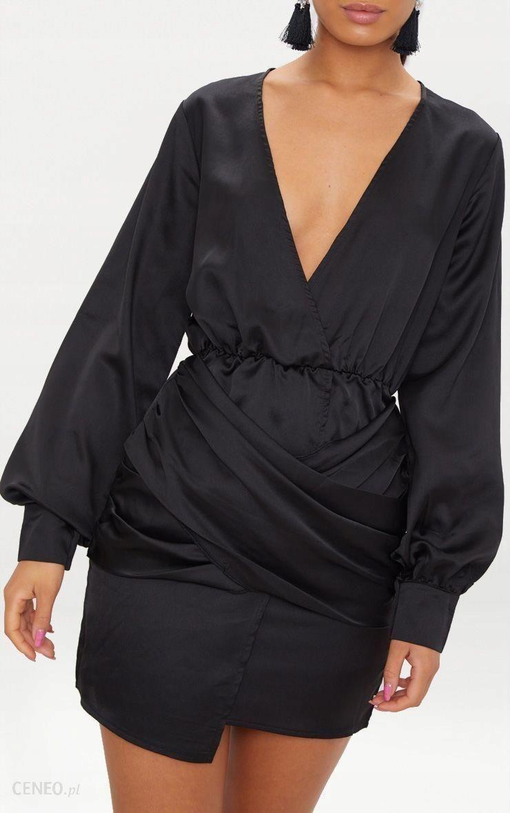 24fa7c8248 Prettylittlething Wrapowana czarna sukienka (32) - Ceny i opinie ...