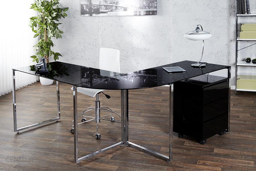 """Invicta"" interjero ""Big Deal"" kampinis stalas juodas 180X60Cm 38381"