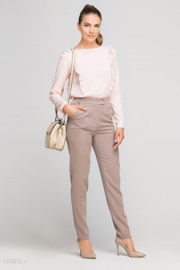 084bcad5b4eaf4 Eleganckie spodnie w kant z wysokim stanem - Ceny i opinie - Ceneo.pl