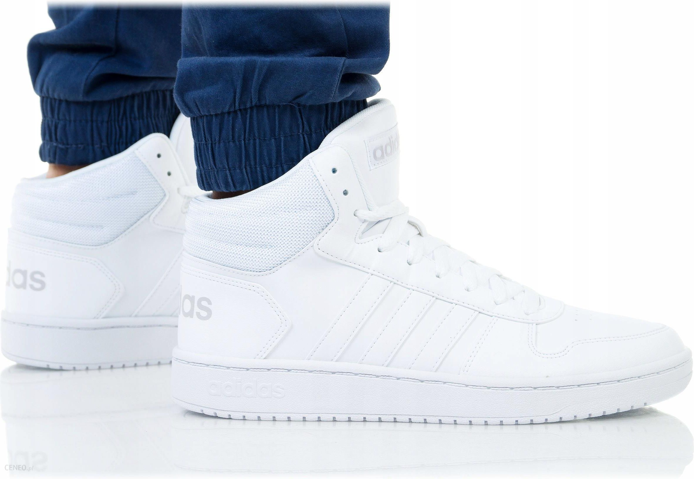 Buty Adidas Hoops 2.0 MID Męskie B44664 Białe Ceny i opinie Ceneo.pl