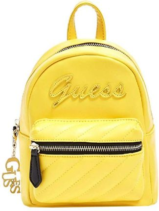 c166761cea593 Guess Damski Plecak Factor y Women`s Feliz Logo Convertible Mini Backpack  Yellow