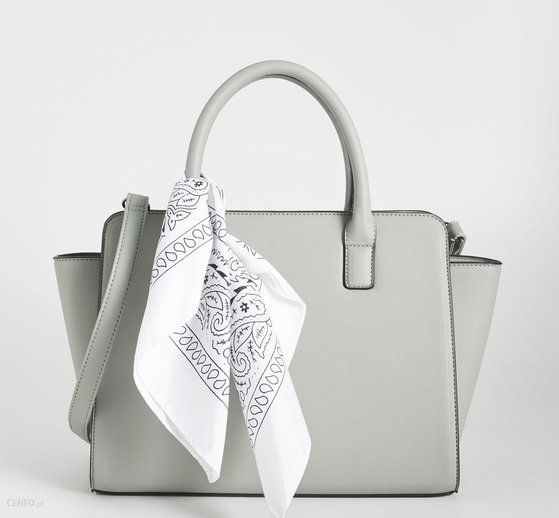 ładne buty zniżka nowy styl życia Sinsay - Torba city bag z apaszką - Jasny szar - Ceny i opinie - Ceneo.pl