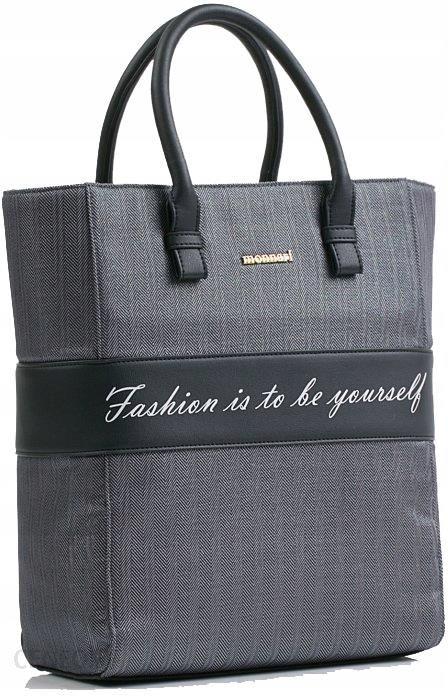 c59b50902a Monnari Bag 6210 wzorzysta torba torebka z napisem - Ceny i opinie ...