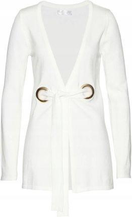 bdb51aa8ffdc Sweter wiązany biały 40 42 L XL 940112 bonprix Allegro