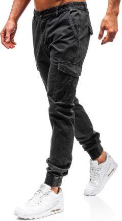 0d620e7cf Spodnie męskie joggery bojówki grafitowe Denley 5399