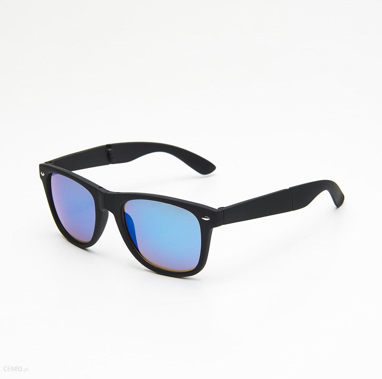 e945dc8ac24604 Cropp - Okulary przeciwsłoneczne z etui - Czarny - Ceny i opinie ...