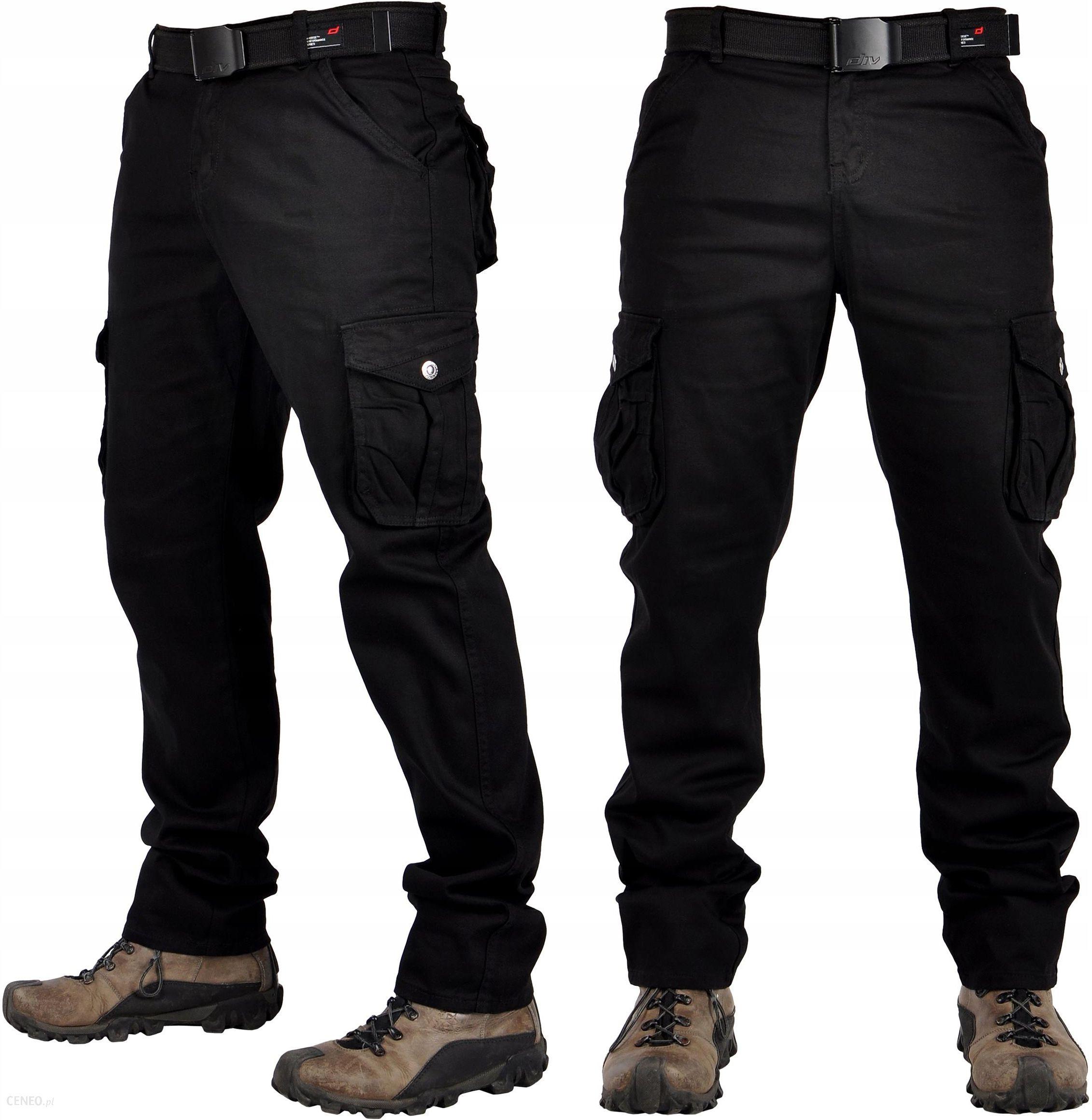 spodnie czarne meskie bojowki