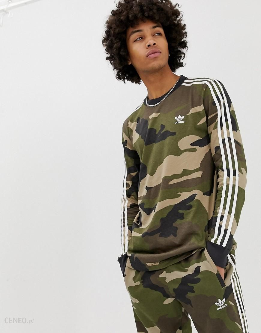 Adidas Originals Camo Long Sleeve t shirt DV2055 Green Ceneo.pl