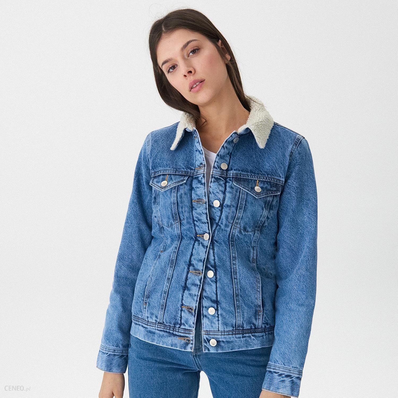 House Ocieplana kurtka jeansowa Niebieski Ceny i opinie Ceneo.pl