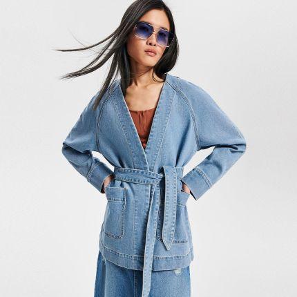 0c894758bb Reserved - Jeansowe kimono - Niebieski ...