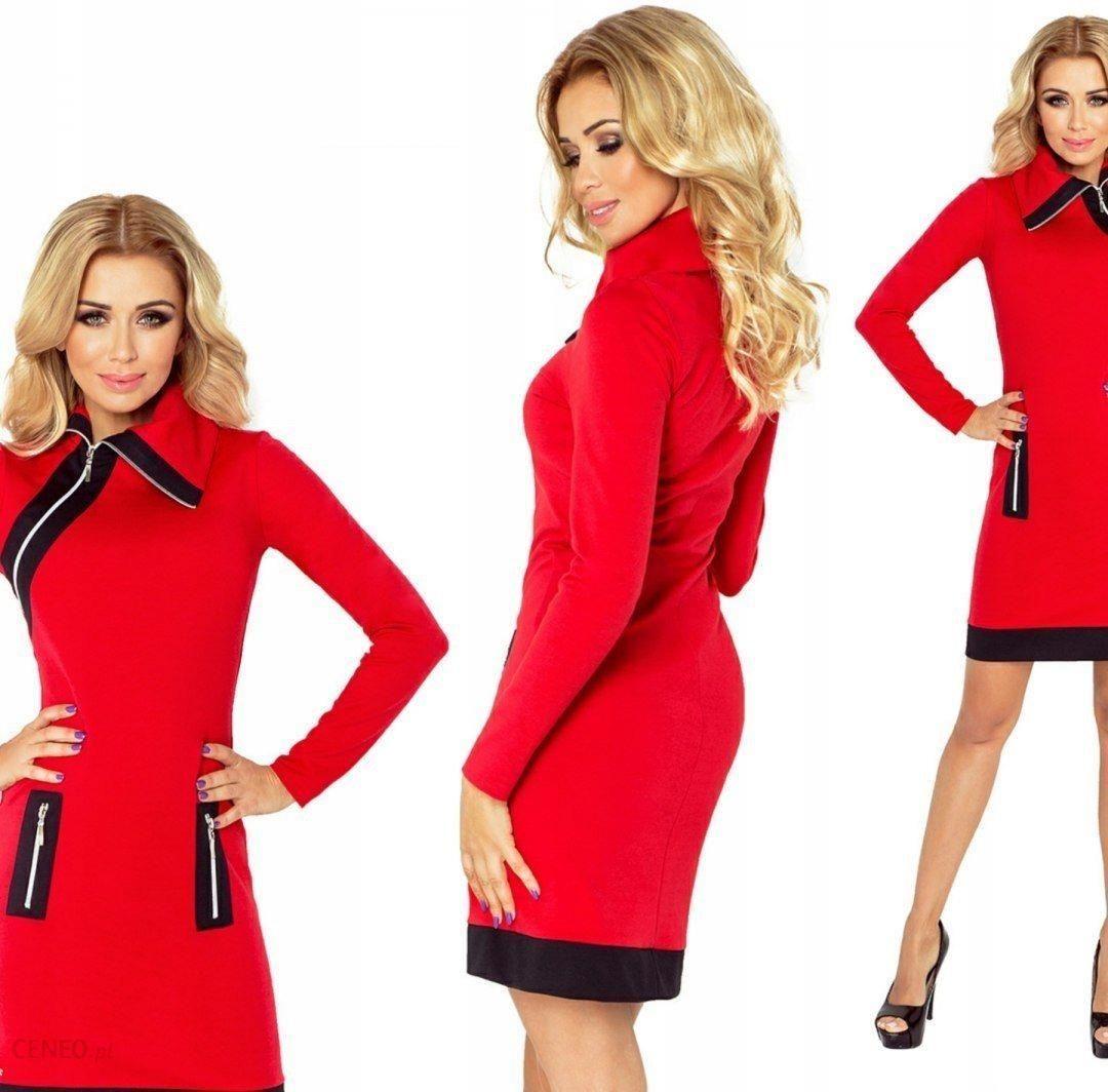 d856c20717 Elegancka sukienka wesele Numoco 129-3 Czerwona L - Ceny i opinie ...