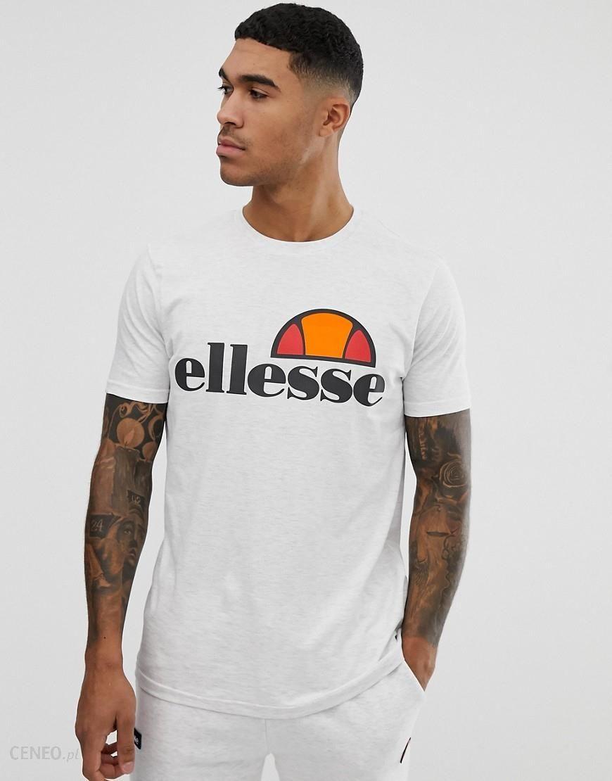 b52bae3c Ellesse Prado t-shirt with large logo in white marl - Grey - Ceneo.pl
