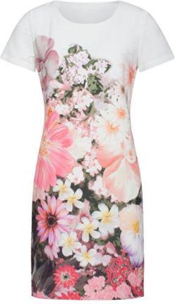 118988afd8 Smashed Lemon Sukienka damska White   Pink 19105 (rozmiar XL)