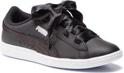 Sneakersy PUMA Vikky Ribbon L Satin Jr 369542 04 Puma BlackPuma SilverWhite Ceny i opinie Ceneo.pl