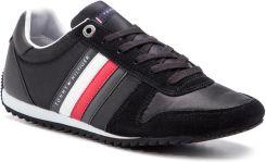 4120a1c51a44c Sneakersy TOMMY HILFIGER - Essential Nylon Runner FM0FM02024 Black 990  eobuwie