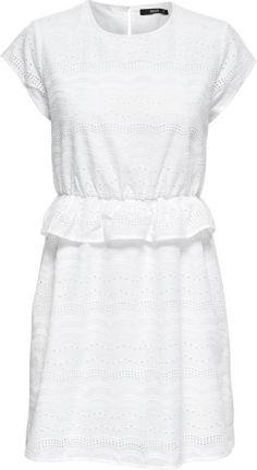 75b5d0e5cd ONLY Kobiety ubierają Silvija Capsleeve Anglais Dress stopień  kompatybilności Bright White (rozmiar 38)