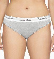 2f92ec2df5544a Calvin Klein szare stringi Thong Modern Cotton Plus z szeroką gumą - XXXL
